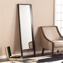 Southern Enterprises Jaxon Leaning Mirror in Ebony Stain