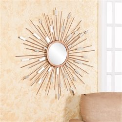 Southern Enterprises Starburst Mirrored Wall Sculpture in Painted Gold