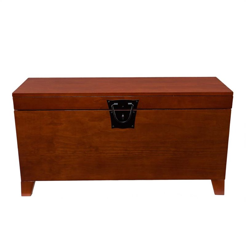 Southern Enterprises Pyramid Storage Trunk Coffee Table In Mission Oak Ck1224t Cymax Stores