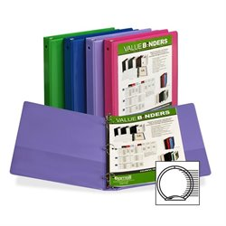 Samsill Economy 2-Pocket Round Ring View Binders