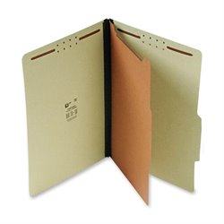 SJ Paper Recycled 1-Divider Classification Folders