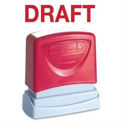 SKILCRAFT Pre-inked Red Draft Message Stamp