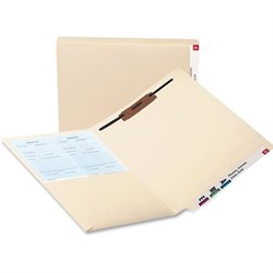 Smead 2-ply Manila Pocket Folders w/ Fastener