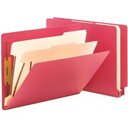 Smead End Tab 2 Div Colored Classificatn Folders