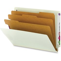 Smead End Tab Classification Folders w/3 Dividers