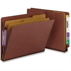 Smead End-Tab Kraft Divider Classificatn Folders