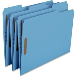 Smead Colored Top-Tab Fastener File Folders (Set of 50)