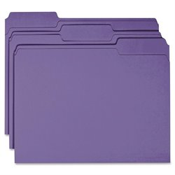 Smead 1/3 Cut Top Tab Color-coded File Folders (Set of 100)