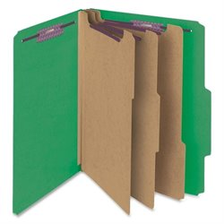 Smead SafeSHIELD Fstnrs 3-Div Classificatn Folders
