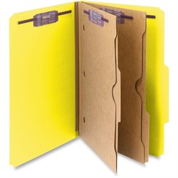Smead Pocket Divider Pressbrd Classificatn Folders