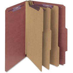 Smead SafeSHIELD 3-Divider Classification Folders