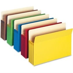 Smead Colored File Pockets 5-Pack