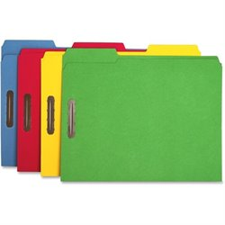 Sparco Bright Colored 1/3 Cut Tab Fastener Folders
