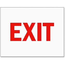 Tarifold Exit Magneto Frame Safety Sign Insert