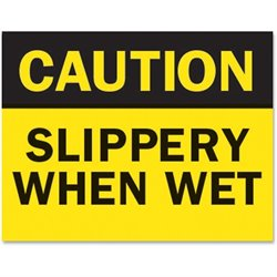 Tarifold Caution Slippery Wet Magneto Sign Insert
