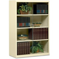 Tennsco Locking Glass Doors Steel Bookcase