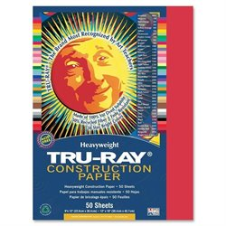 Pacon Tru-Ray Heavyweight Construction Paper (Set of 50)