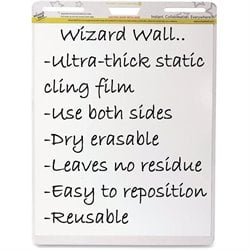 Wizard Wall Dry Erase Film Pad (Set of 6)