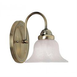 Livex Edgemont Bath Light in Antique Brass