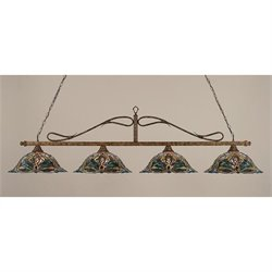 Toltec Scroll 4 Light Bar in Bronze with 19