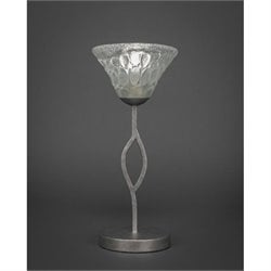 Toltec Revo Mini Table Lamp in Aged Silver with 7