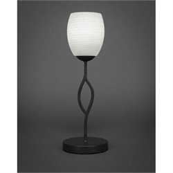 Toltec Revo Mini Table Lamp in Dark Granite with 5