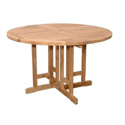 Anderson Teak Butterfly Patio Bistro Folding Table in Natural