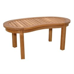 Anderson Teak Curve Outdoor Coffee Table in Natural