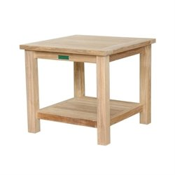 Anderson Teak Patio End Table in Natural