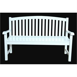 Anderson Teak Hamilton Outdoor 3 Seater Bench in White