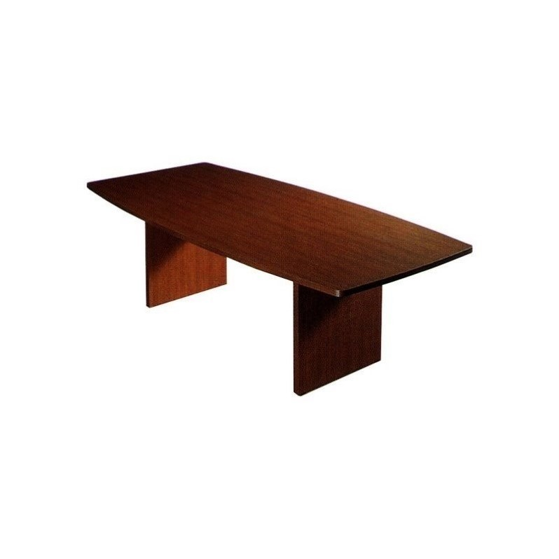 Global Total Office Boat Shaped 6' Conference Table with Slab Base