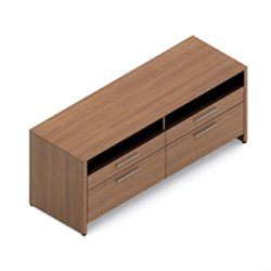 Global Princeton Double Credenza in Winter Cherry