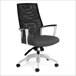Global Accord Mesh High Back Tilter Office Chair in Granite Rock