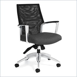 Global Accord Mesh Medium Back Tilter Office Chair in Granite Rock