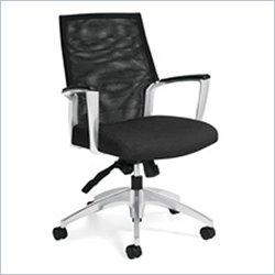 Global Accord Mesh Medium Back Tilter Office Chair in Black Coal