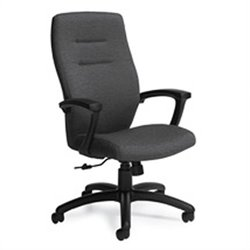 Global Synopsis High Back Tilter Office Chair in Granite Rock