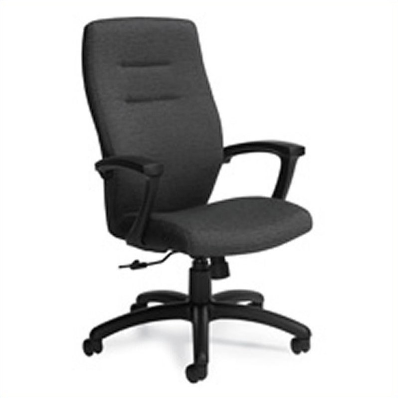 Synopsis High Back Tilter Chair in Black Coal