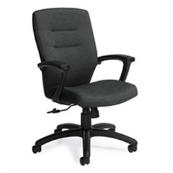 Global Synopsis Medium Back Tilter Office Chair in Black Coal