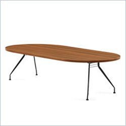 Global Alba 10x48 Racetrack Table in Avant Honey
