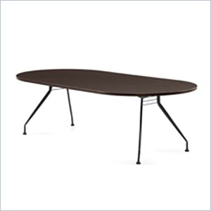 Global Alba 8x48 Racetrack Table in Dark Espresso