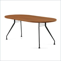 Global Alba 6x36 Racetrack Table in Avant Honey