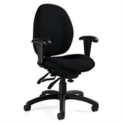 Global Malaga Low Back Multi Tilter Office Chair in Black