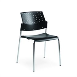 Global Sonic Armless Stacking Chair in Black