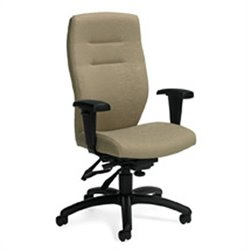 Global Synopsis High Back Multi Tilter Office Chair in Beach Day