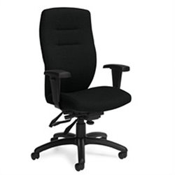 Global Synopsis High Back Multi Tilter Office Chair in Black Coal