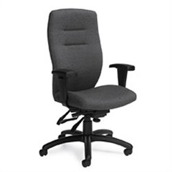Global Synopsis Medium Back Multi Tilter Office Chair in Granite Rock