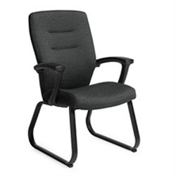 Global Synopsis Guest ArmGuest Chair in Black Coal