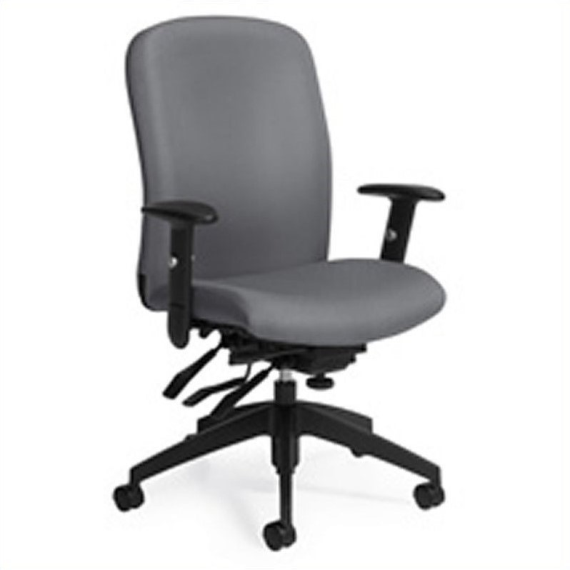 Global Truform High Back Multi Tilter Office Chair with Arms in Slate