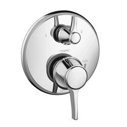 Metris C 2-Handle Pressure Balance Valve Trim Kit with Diverter in Chrome (Valve Not Included)