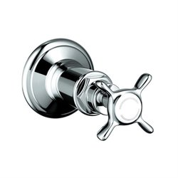 Axor Montreux Volume Control 1-Handle Valve Trim Kit in Chrome with Cross Handle (Valve Not Included)